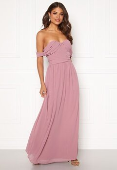 Chi Chi London Albanie Strapless Dress Mink Bubbleroom.dk