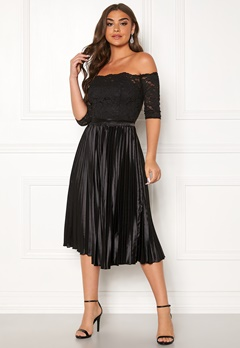 Chi Chi London Anna-Marie Bardot Dress Black Bubbleroom.dk