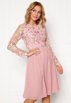 Chi Chi London Bee embroidered MidiDress Nude Bubbleroom.dk