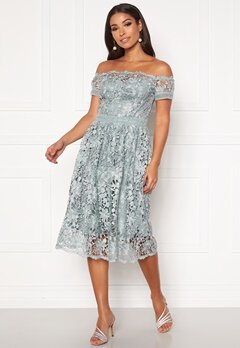 Chi Chi London Cerise Midi Dress Green Bubbleroom.dk