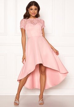 Chi Chi London Molly High Low Dress Mink Bubbleroom.dk