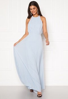 Chi Chi London Morghan Pleated MaxiDress Blue Bubbleroom.dk