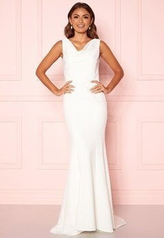 Chi Chi London Orlaith Open Back Dress White Bubbleroom.dk