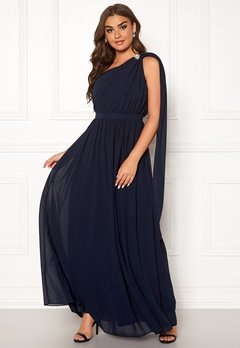 Chi Chi London Petra One Shoulder Dress Navy Bubbleroom.dk