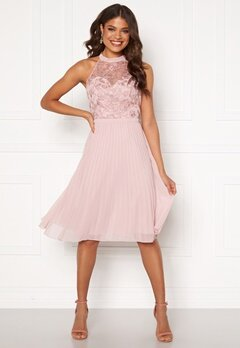 Chi Chi London Pyper Lace Bodice Dress Mink Bubbleroom.dk