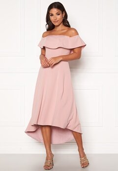 Chi Chi London Wanda Bardot Dress Mink Bubbleroom.dk