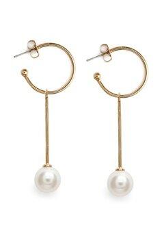 Dyrberg/Kern Chia Gold Earrings Crystal Bubbleroom.dk
