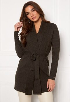 Chiara Forthi Abruzzo knitted tie band cardigan Anthracite bubbleroom.dk
