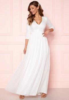 Chiara Forthi Admirante sparkling gown White Bubbleroom.dk