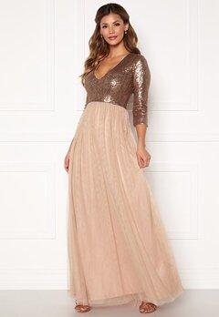 Chiara Forthi Admirante sparkling gown Rose gold Bubbleroom.dk