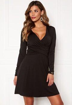 Chiara Forthi Adriana Tie Dress Black Bubbleroom.dk