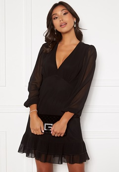 Chiara Forthi Alessandra puff dress Black Bubbleroom.dk