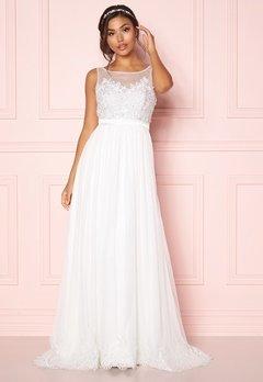 Chiara Forthi Alina Gown White Bubbleroom.dk