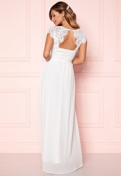 Chiara Forthi Amante Lace Gown White Bubbleroom.dk