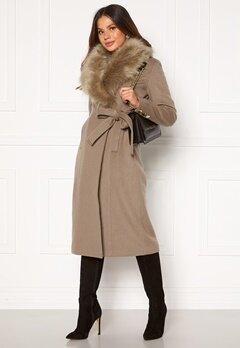 Chiara Forthi Amber Long Coat Nougat Bubbleroom.dk