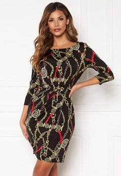 Chiara Forthi Amy 3/4 Sleeve Dress Black / Red Bubbleroom.dk