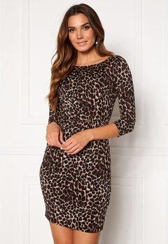 Chiara Forthi Amy 3/4 Sleeve Dress Leopard Bubbleroom.dk