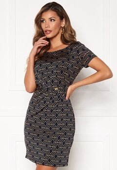Chiara Forthi Amy Dress Dark navy / Gold Bubbleroom.dk