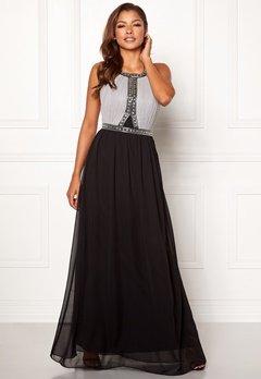 Chiara Forthi Anastasia embellished gown Black / Grey Bubbleroom.dk