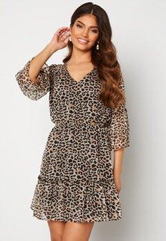 Chiara Forthi Annabelle flounce dress Leopard Bubbleroom.dk