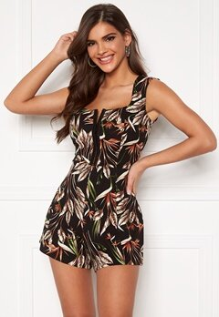 Chiara Forthi Anouk Playsuit Black / Green / Patterned Bubbleroom.dk
