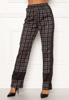 Chiara Forthi Antonia soft silky pants Black / Beige Bubbleroom.dk