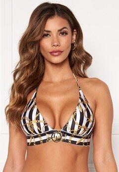Chiara Forthi Arcola bikini bra Striped / Black / Gold Bubbleroom.dk