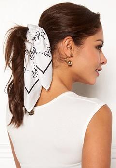 Chiara Forthi Arezzo scarf Black / Offwhite Bubbleroom.dk