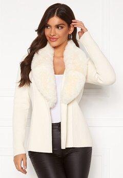 Chiara Forthi Arina heavy knit wrap jacket Winter white Bubbleroom.dk