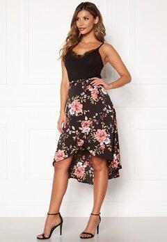 Chiara Forthi Arona wrap skirt Black / Pink / Floral Bubbleroom.dk