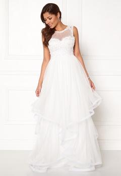 Chiara Forthi Aurora tulle gown White Bubbleroom.dk