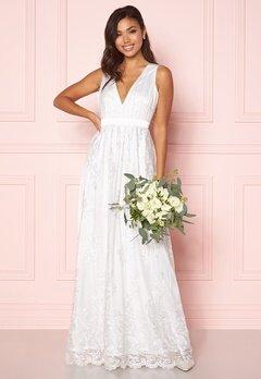 Chiara Forthi Ava gown White Bubbleroom.dk