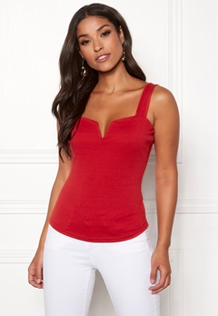 Chiara Forthi Bettina deep v-neck top Red Bubbleroom.dk