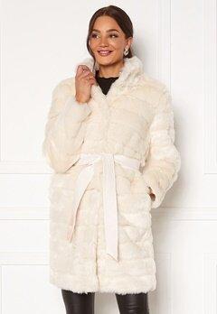 Chiara Forthi Bologna Faux Fur Coat Ivory white bubbleroom.dk