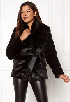 Chiara Forthi Bologna Faux Fur Jacket Black Bubbleroom.dk