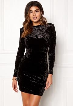 Chiara Forthi Brushed Velvet Dress Black Bubbleroom.dk
