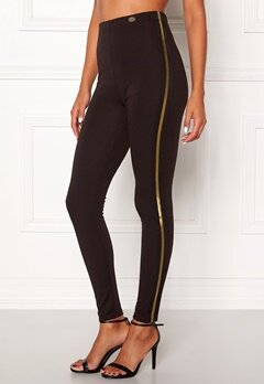 Chiara Forthi Calanta striped leggings Black Bubbleroom.dk