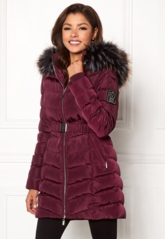 Chiara Forthi Campitello Padded Jacket Dark wine-red Bubbleroom.dk