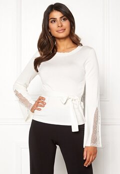 Chiara Forthi Caprice knitted pearl sweater Winter white Bubbleroom.dk