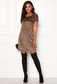 Chiara Forthi Carita fringe dress Light nougat Bubbleroom.dk