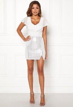 Chiara Forthi Celebrity skirt Silver Bubbleroom.dk