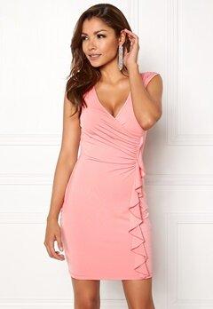 Chiara Forthi Celina ruffle dress Pink Bubbleroom.dk