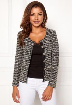 Chiara Forthi Charlize jersey jacket Black / Offwhite Bubbleroom.dk