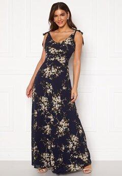 Chiara Forthi Cherie tie dress Dark blue / Floral Bubbleroom.dk