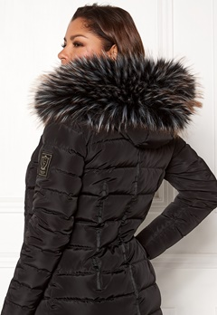 Chiara Forthi Chiara Faux Fur Collar Black / White / Brown Bubbleroom.dk