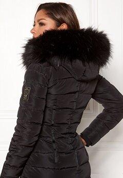 Chiara Forthi Chiara Faux Fur Collar Black Bubbleroom.dk