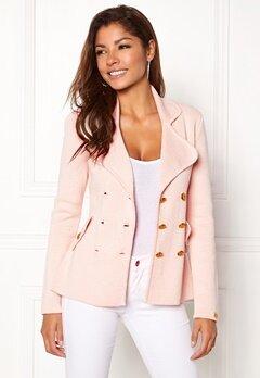 Chiara Forthi Chiara Heavy Knit Blazer Light pink Bubbleroom.dk