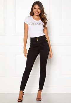 Chiara Forthi Chiara high waist jeans Black Bubbleroom.dk