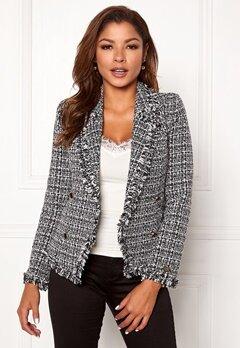 Chiara Forthi Cici bouclé jacket Black / Offwhite Bubbleroom.dk