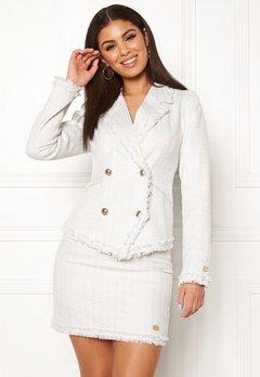 Chiara Forthi Cici bouclé jacket Winter white Bubbleroom.dk
